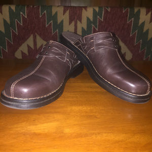 Clarks Brown Mules Clogs Excellent condition